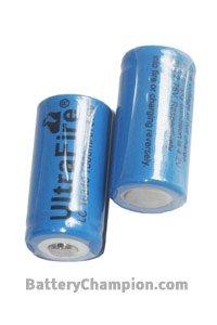 UltraFire 2x 16340 Batterie (1000 mAh, Wiederaufladbar)