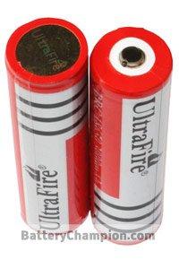 UltraFire 2x 18650 Batterie (3000 mAh, Wiederaufladbar)
