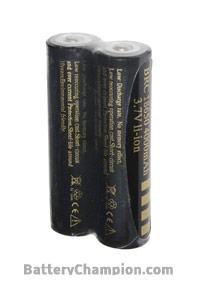 UltraFire 2x 18650 battery (4000 mAh, Rechargeable)