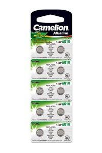 Camelion 10x LR54 A bottone (44 mAh)