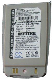LG 5350 batteri (900 mAh, Sølv)