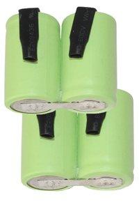2x A23 batterie in serie, con piazzole di saldatura (1100 mAh, Ricaricabile)