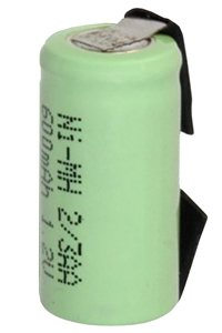 2/3 AA batteria con piazzole di saldatura (1000 mAh, Ricaricabile)