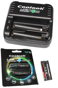 Coolook Lithium AA Alimentatore, Include 2x AA (700 mAh, Ricaricabile)