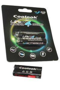 Coolook 2x Lithium AAA batteria (260 mAh, Ricaricabile)