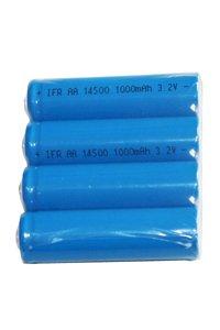 4x 14500 batteria (1000 mAh, Ricaricabile)