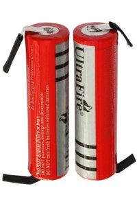 UltraFire 2x 18650 batteria con piazzole di saldatura (3000 mAh, Ricaricabile)