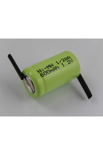 2x 1/2 AA battery (600 mAh, Rechargeable)