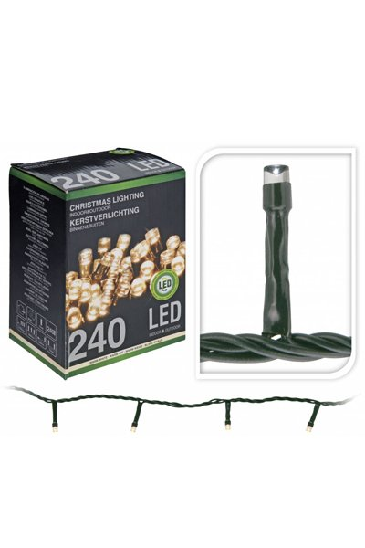 LED Christmas lights for indoor or outdoor use (240 lamps)
