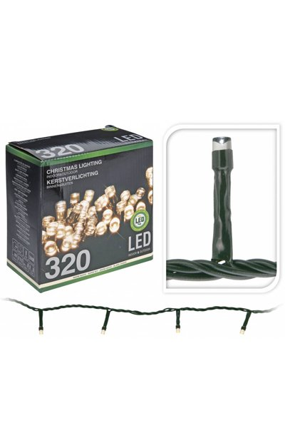 LED Christmas lights for indoor or outdoor use (320 lamps)