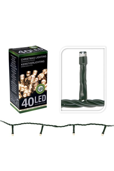 LED Christmas lights for indoor or outdoor use (40 lamps)