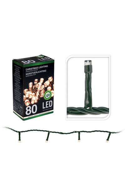 LED Christmas lights for indoor or outdoor use (80 lamps)