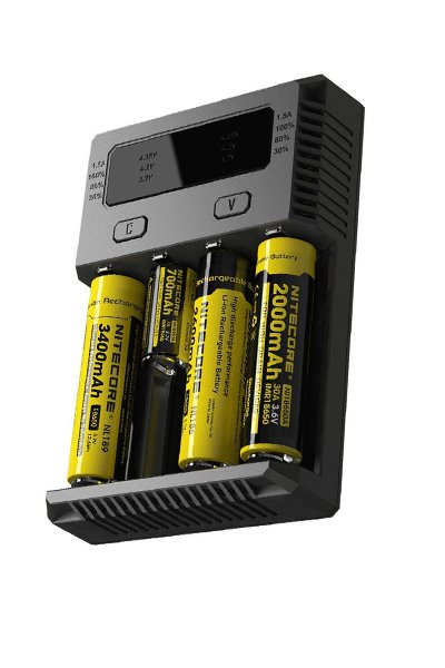 Nitecore 4x Lithium Cell Adaptador AC / carregador