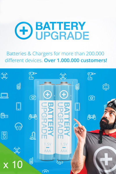 BatteryUpgrade 10x AAA battery
