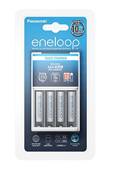 Eneloop charger, Including 4x AAA battery (750 mAh)
