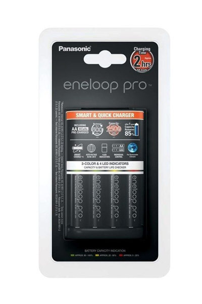 Eneloop charger, Including 4x AA battery (2500 mAh)