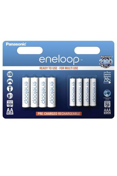 Eneloop 4 x AA + 4 x AAA paristo (1900 mAh)