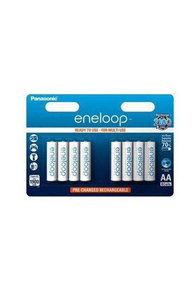Eneloop 8x AA batteri (1900 mAh)