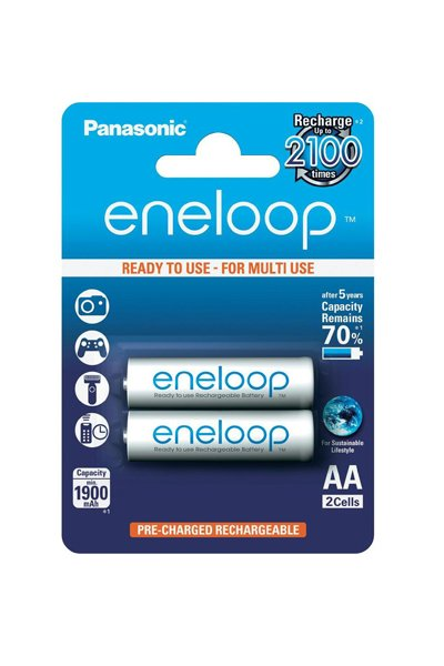 Eneloop 2x AA batteri (1900 mAh)