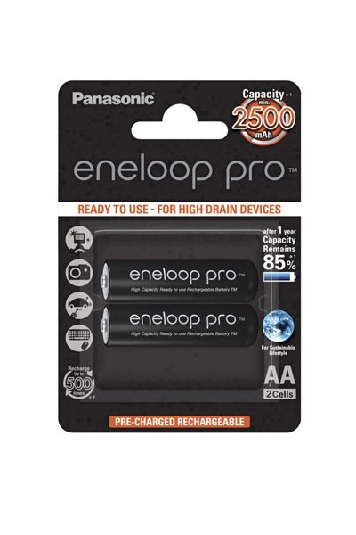 Eneloop pro 2x AA battery (2500 mAh)