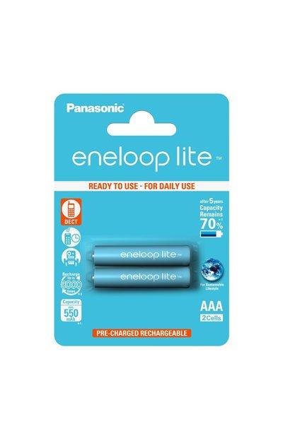 Eneloop Lite 2x AAA patarei (550 mAh)