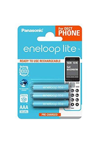 Eneloop Lite 3x AAA batteri (550 mAh)