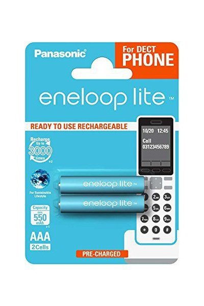 Eneloop Lite 2x AAA battery (550 mAh)