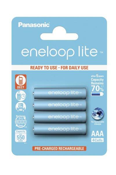 Eneloop Lite 4x AAA tužková baterie (550 mAh)