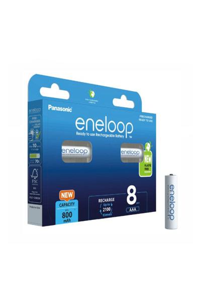 Eneloop 8x AAA paristo (750 mAh)