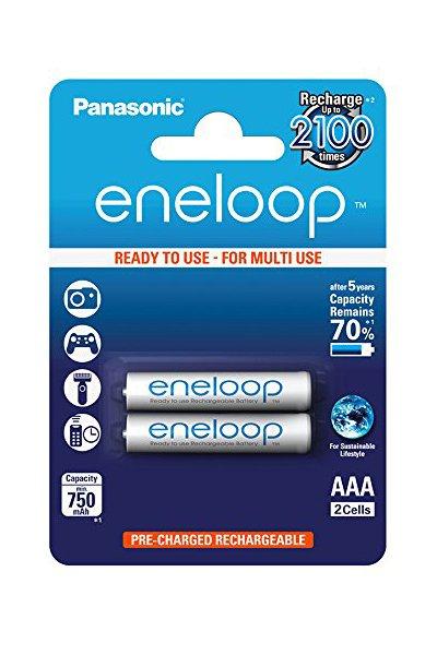 Eneloop 2x AAA batteri (750 mAh)