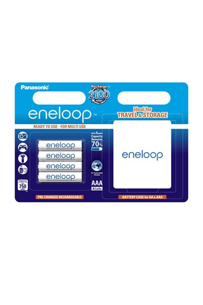 Eneloop 4x AAA elem (750 mAh)