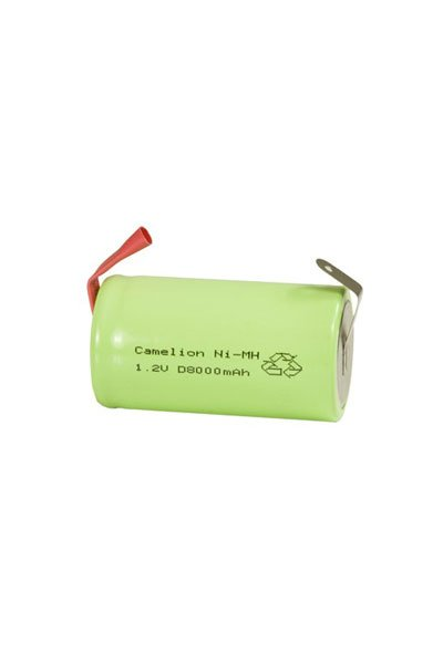 1x D battery (8000 mAh, Rechargeable)