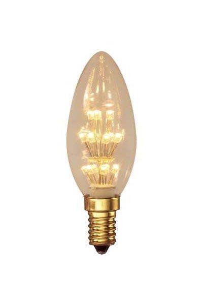 Calex E14 Lâmpadas LED 1W (10W) (Vela, Transparente)