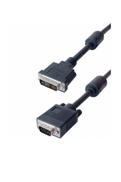 DVI-A (12+4+1 stift) - VGA kabel (300 cm)