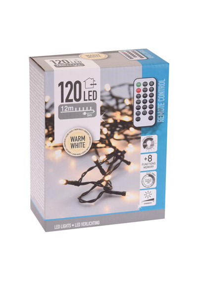 LED Christmas lights for indoor or outdoor use (120 lamps)