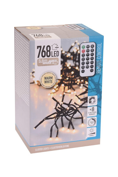 LED-Microcluster-Weihnachtsbeleuchtung (768 Lampen)