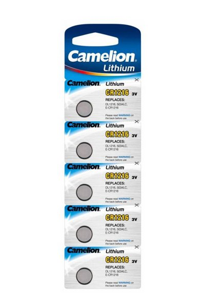 Camelion 5x CR1216 Coin cell (29 mAh)