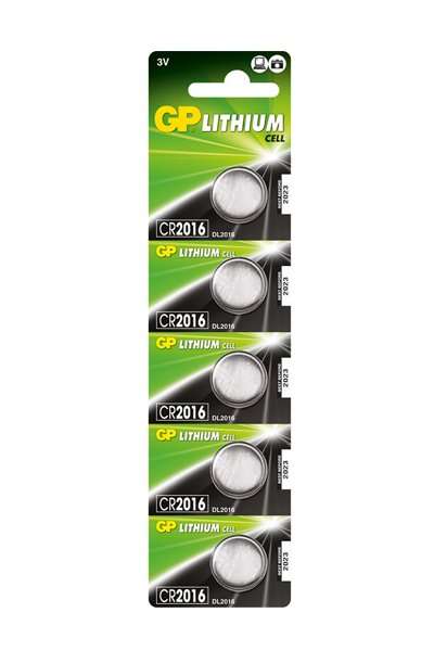 GP 5x CR2016 Coin cell (85 mAh)
