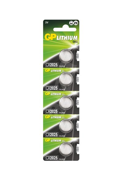 GP 5x CR2025 Coin cell (160 mAh)