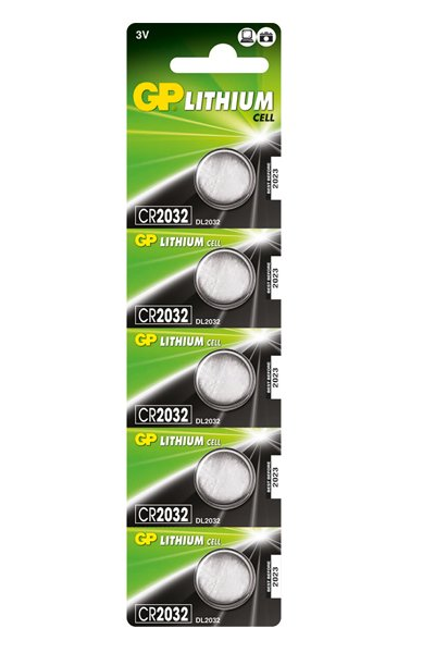 GP 5x CR2032 Coin cell (220 mAh)