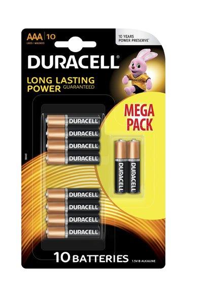 Duracell 10x AAA battery