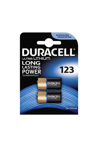 Duracell 2 x CR123A battery