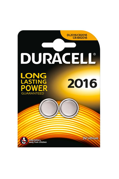 Duracell 2x CR2016 battery