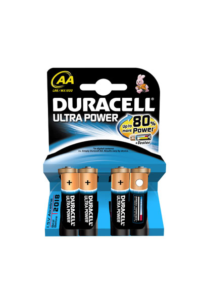 Duracell 4x AA battery