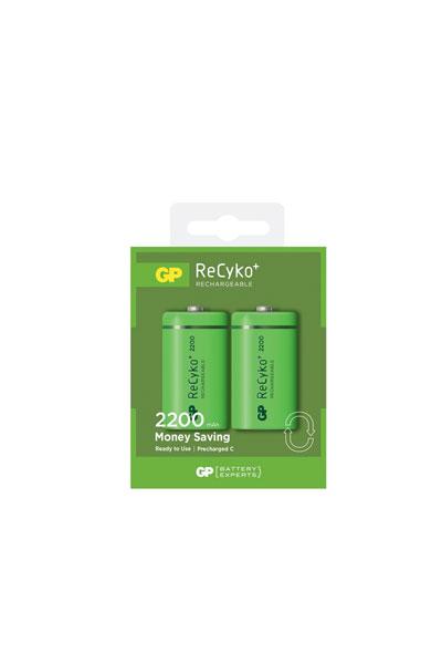 GP 2x D battery (2200 mAh, Rechargeable)