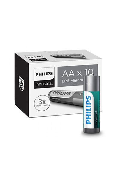 PHILIPS 10x AA Обычная батарейка