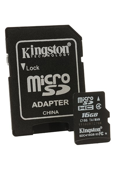 Kingston Micro SD (SDHC, Class 4) 16 GB Mémoire / Stockage