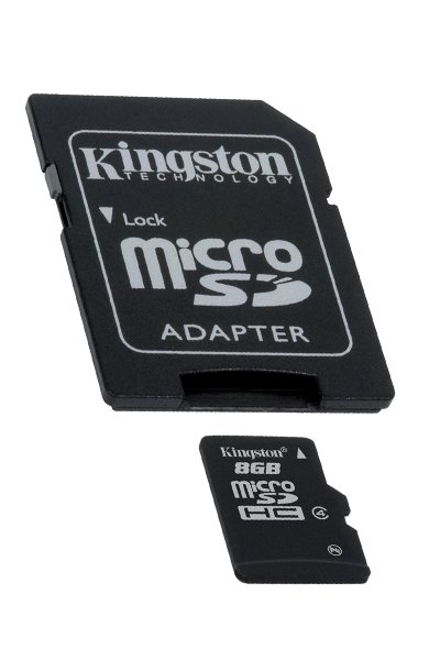 Kingston Micro SD (SDHC, Class 4) 8 GB Memory / Storage
