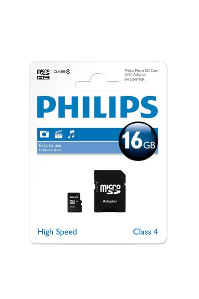 Philips Micro SD (SDHC, Class 4) 16 GB Mälu / ladustamine
