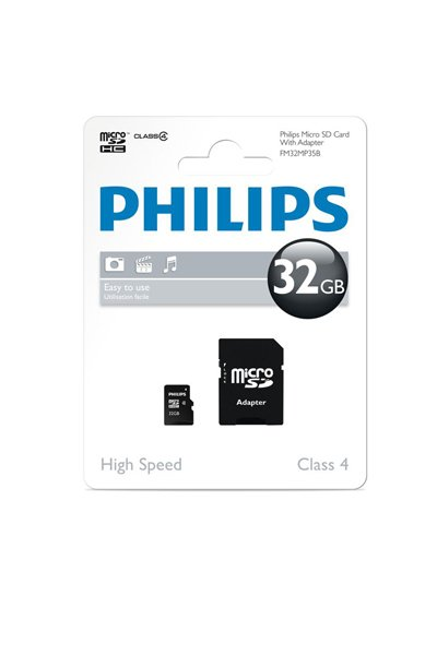 Philips Micro SD (SDHC, Class 10) 32 GB Mémoire / Stockage